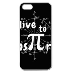 Pi Day Apple Seamless Iphone 5 Case (clear)