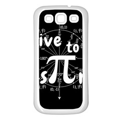 Pi Day Samsung Galaxy S3 Back Case (white) by Valentinaart