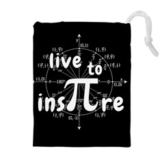 Pi Day Drawstring Pouches (extra Large) by Valentinaart