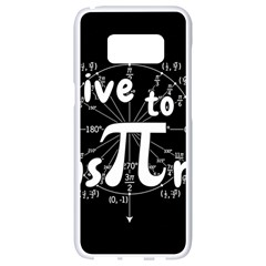 Pi Day Samsung Galaxy S8 White Seamless Case by Valentinaart