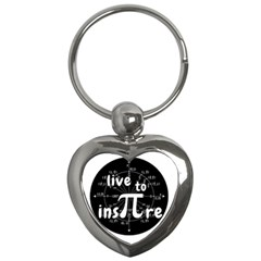 Pi Day Key Chains (heart)  by Valentinaart