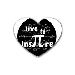 Pi Day Rubber Coaster (heart)  by Valentinaart