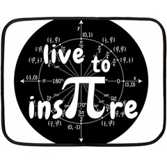 Pi Day Double Sided Fleece Blanket (mini)  by Valentinaart