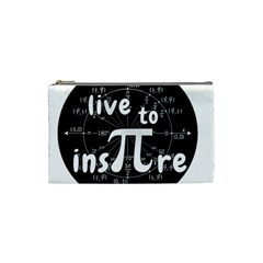 Pi Day Cosmetic Bag (small)  by Valentinaart
