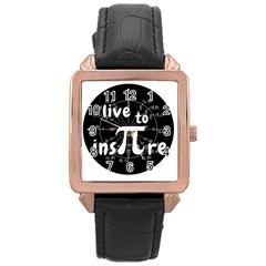 Pi Day Rose Gold Leather Watch  by Valentinaart