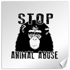 Stop Animal Abuse   Chimpanzee  Canvas 20  X 20   by Valentinaart