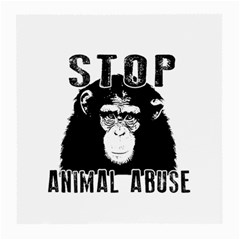 Stop Animal Abuse   Chimpanzee  Medium Glasses Cloth (2 Side) by Valentinaart
