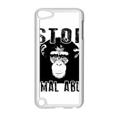 Stop Animal Abuse   Chimpanzee  Apple Ipod Touch 5 Case (white) by Valentinaart