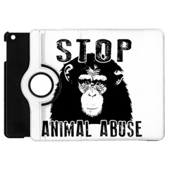 Stop Animal Abuse   Chimpanzee  Apple Ipad Mini Flip 360 Case