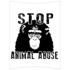 Stop Animal Abuse   Chimpanzee  Back Support Cushion by Valentinaart