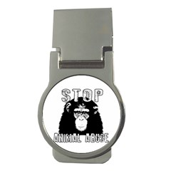 Stop Animal Abuse - Chimpanzee  Money Clips (Round)