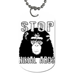 Stop Animal Abuse - Chimpanzee  Dog Tag (One Side)