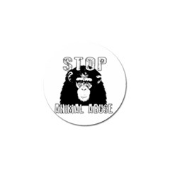 Stop Animal Abuse - Chimpanzee  Golf Ball Marker (4 pack)