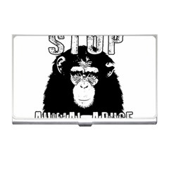 Stop Animal Abuse - Chimpanzee  Business Card Holders