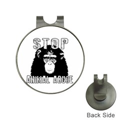 Stop Animal Abuse - Chimpanzee  Hat Clips with Golf Markers