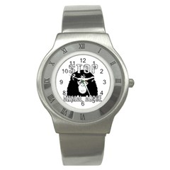Stop Animal Abuse - Chimpanzee  Stainless Steel Watch