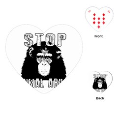 Stop Animal Abuse - Chimpanzee  Playing Cards (Heart)