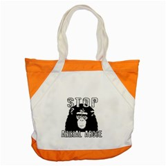Stop Animal Abuse - Chimpanzee  Accent Tote Bag