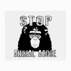 Stop Animal Abuse - Chimpanzee  Small Glasses Cloth (2-Side)