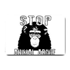 Stop Animal Abuse - Chimpanzee  Small Doormat