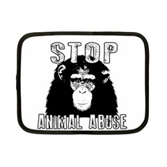Stop Animal Abuse - Chimpanzee  Netbook Case (Small)