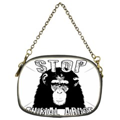 Stop Animal Abuse - Chimpanzee  Chain Purses (One Side)