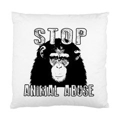 Stop Animal Abuse - Chimpanzee  Standard Cushion Case (Two Sides)