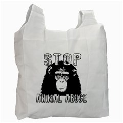 Stop Animal Abuse - Chimpanzee  Recycle Bag (One Side)