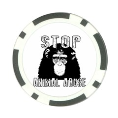 Stop Animal Abuse - Chimpanzee  Poker Chip Card Guard (10 pack)
