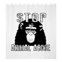Stop Animal Abuse - Chimpanzee  Shower Curtain 66  x 72  (Large)