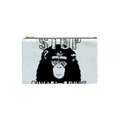 Stop Animal Abuse - Chimpanzee  Cosmetic Bag (Small)