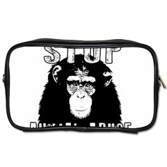 Stop Animal Abuse - Chimpanzee  Toiletries Bags 2-Side