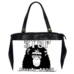 Stop Animal Abuse - Chimpanzee  Office Handbags (2 Sides)