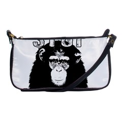 Stop Animal Abuse - Chimpanzee  Shoulder Clutch Bags