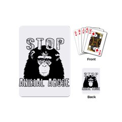Stop Animal Abuse   Chimpanzee  Playing Cards (mini)  by Valentinaart