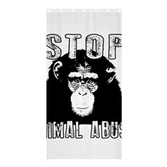 Stop Animal Abuse - Chimpanzee  Shower Curtain 36  x 72  (Stall)