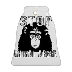 Stop Animal Abuse - Chimpanzee  Bell Ornament (Two Sides)