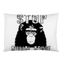 Stop Animal Abuse - Chimpanzee  Pillow Case (Two Sides)