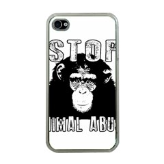Stop Animal Abuse - Chimpanzee  Apple iPhone 4 Case (Clear)