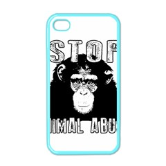 Stop Animal Abuse - Chimpanzee  Apple iPhone 4 Case (Color)