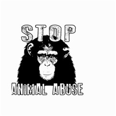 Stop Animal Abuse - Chimpanzee  Small Garden Flag (Two Sides)