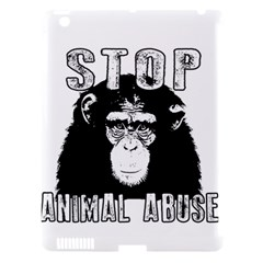 Stop Animal Abuse - Chimpanzee  Apple iPad 3/4 Hardshell Case (Compatible with Smart Cover)