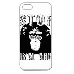 Stop Animal Abuse - Chimpanzee  Apple Seamless iPhone 5 Case (Clear)