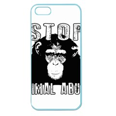 Stop Animal Abuse - Chimpanzee  Apple Seamless iPhone 5 Case (Color)