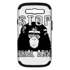 Stop Animal Abuse - Chimpanzee  Samsung Galaxy S III Hardshell Case (PC+Silicone)