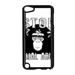 Stop Animal Abuse - Chimpanzee  Apple iPod Touch 5 Case (Black)