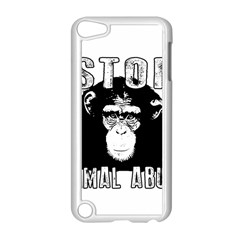 Stop Animal Abuse - Chimpanzee  Apple iPod Touch 5 Case (White)