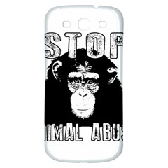 Stop Animal Abuse - Chimpanzee  Samsung Galaxy S3 S III Classic Hardshell Back Case