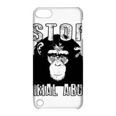 Stop Animal Abuse - Chimpanzee  Apple iPod Touch 5 Hardshell Case with Stand