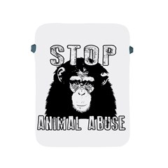 Stop Animal Abuse   Chimpanzee  Apple Ipad 2/3/4 Protective Soft Cases by Valentinaart